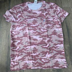 Victoria Secret Pink Camo campus short sleeve top